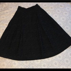 H&M A-Line Black Skirt 2